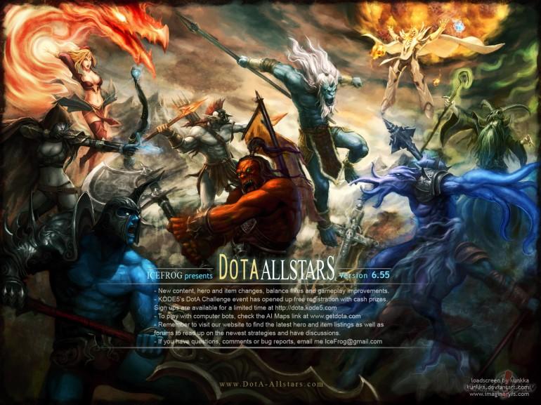 Самая лучшая из серии варкрафт карт, карта DoTa Allsatars серии